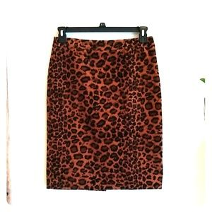 Talbots Animal Print Pencil Skirt 4